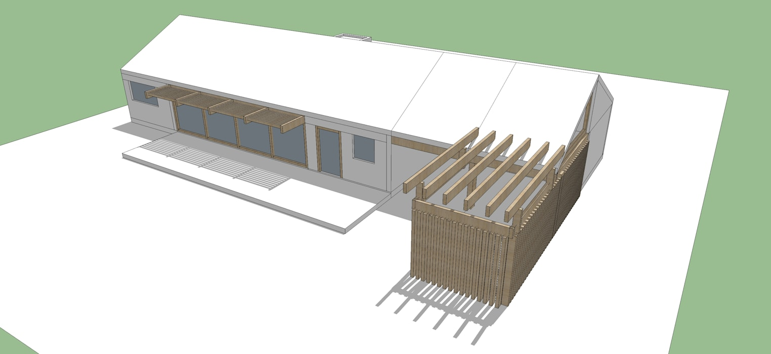 Proyecto Casa (Extendida) 150m2 Constructora Rukalihuen Casas de madera Madera
