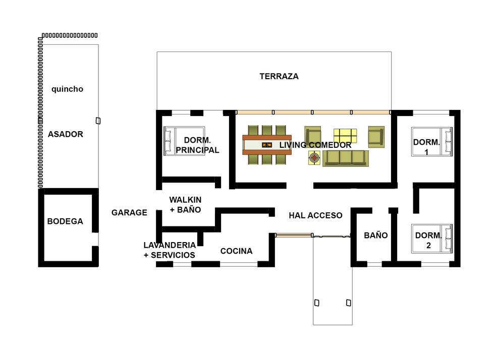 Houten huis door Constructora Rukalihuen, Modern Hout Hout