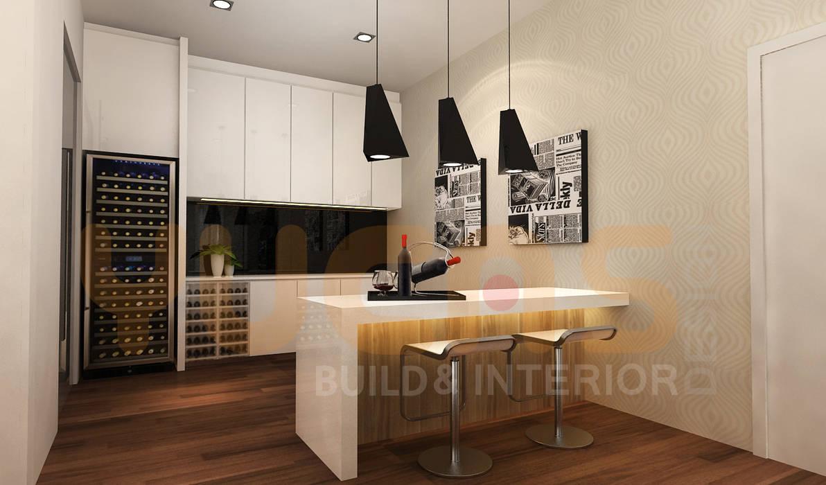 double storey house in cheras:  Wine cellar by Yucas Design & Build Sdn. Bhd.