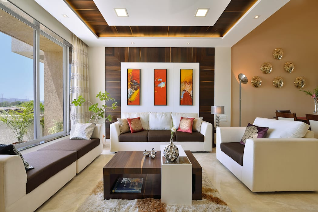 Modern Living Room by SAGA Design Modern