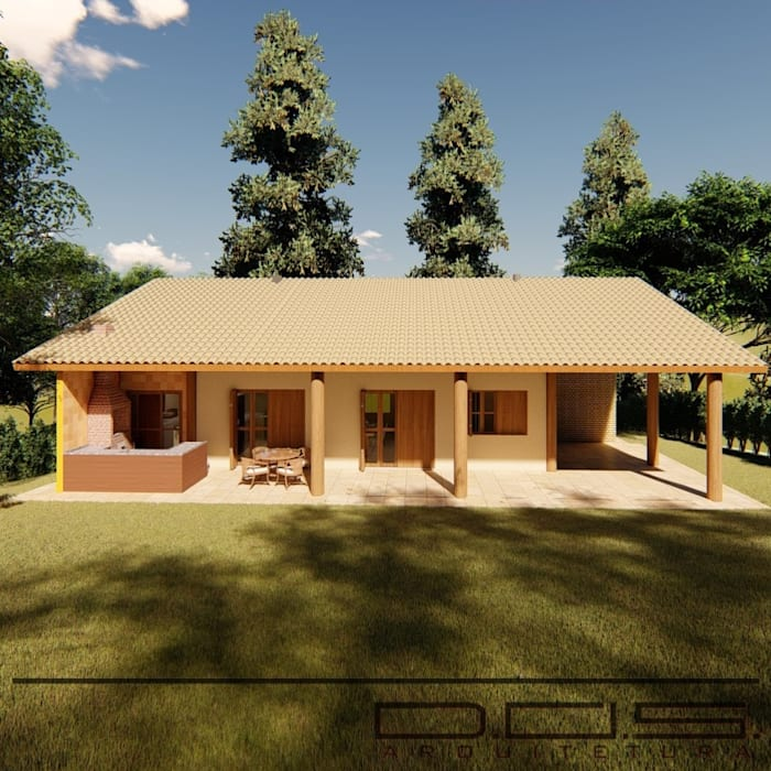bởi D.O.S. Arquitetura Đồng quê Gỗ Wood effect
