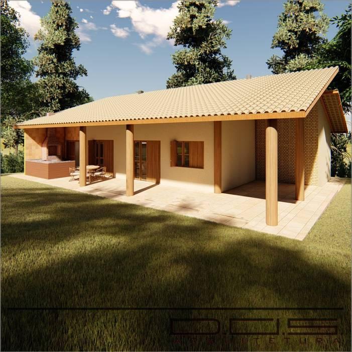 Fachada Casa De Campo J. W.: Casas Do Campo E Fazendas Por