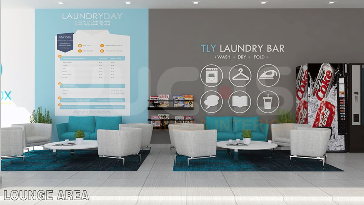 Laundry shop sunway: commercial spaces by yucas design & build sdn ...