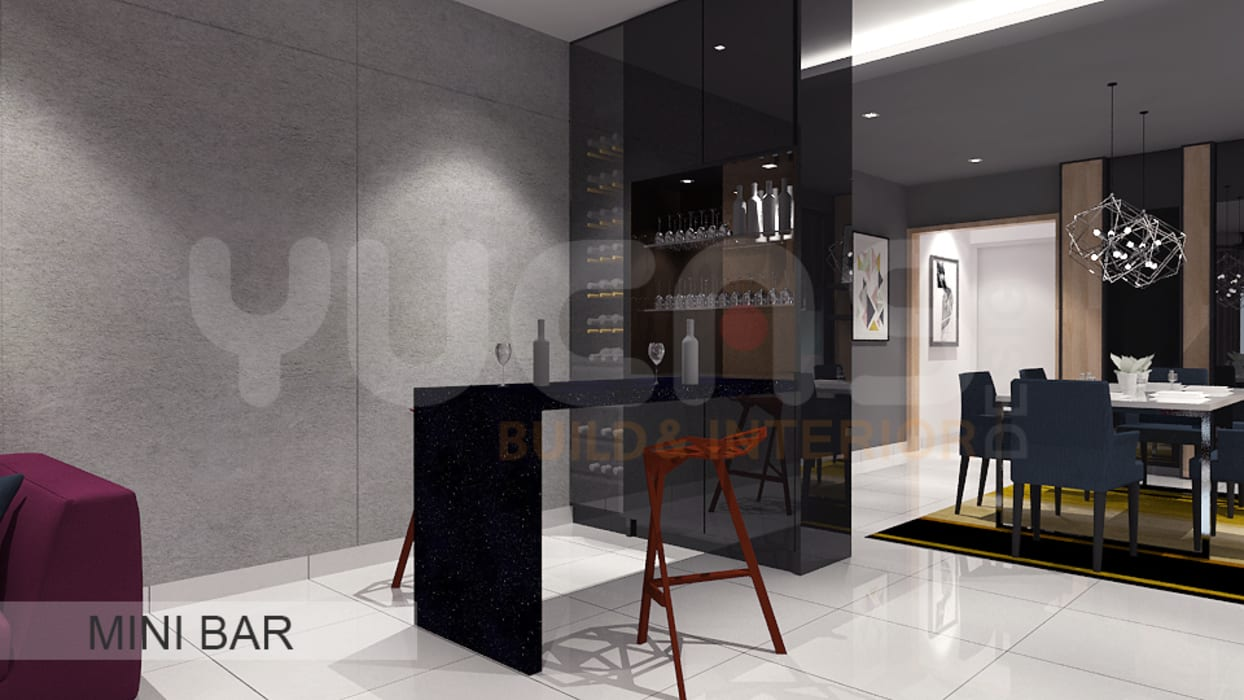 condo at mahkota cheras:  Wine cellar by Yucas Design & Build Sdn. Bhd.