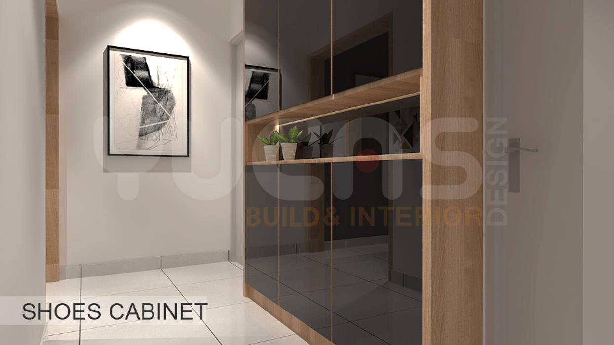 condo at mahkota cheras:  Corridor & hallway by Yucas Design & Build Sdn. Bhd.