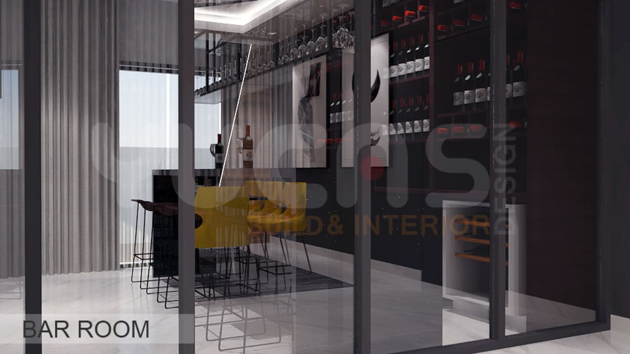 Wine cellar by Yucas Design & Build Sdn. Bhd.