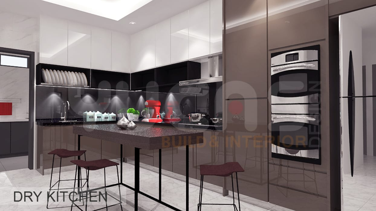 Semi-D at Jln Ipoh:  Kitchen by Yucas Design & Build Sdn. Bhd.