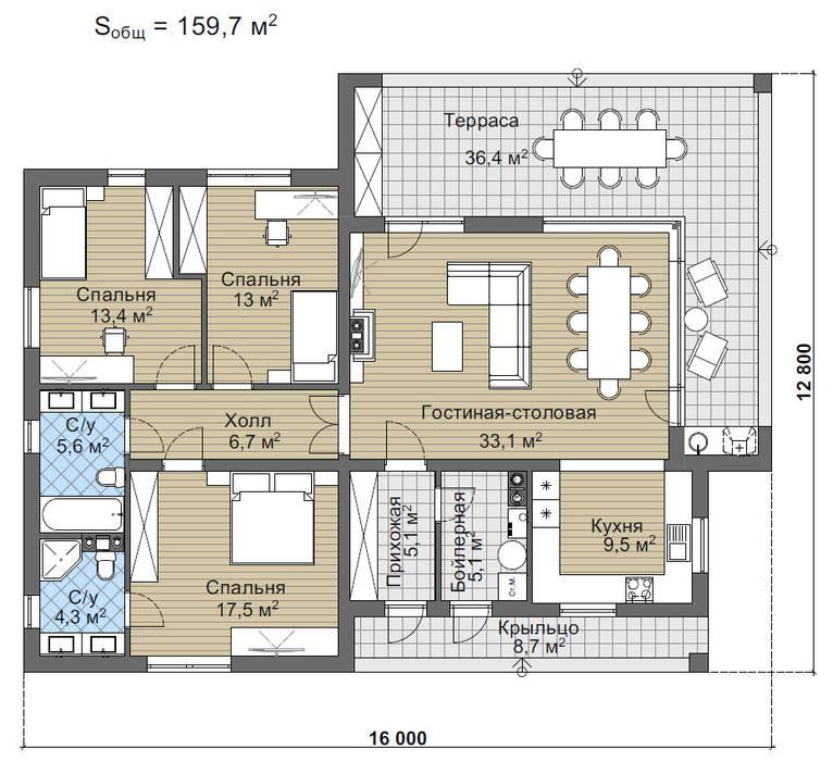 Лир_159 кв.м.:  в . Автор – Vesco Construction