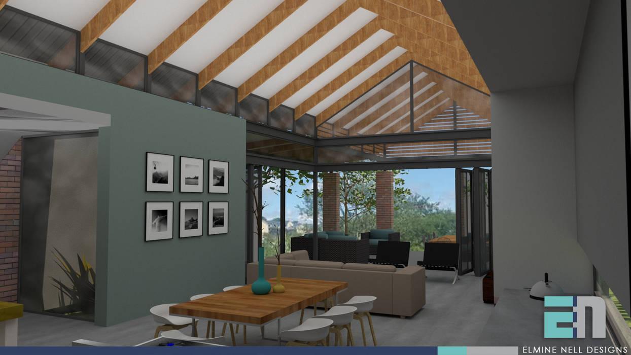 Salas / recibidores de estilo  por ENDesigns Architectural Studio, Moderno
