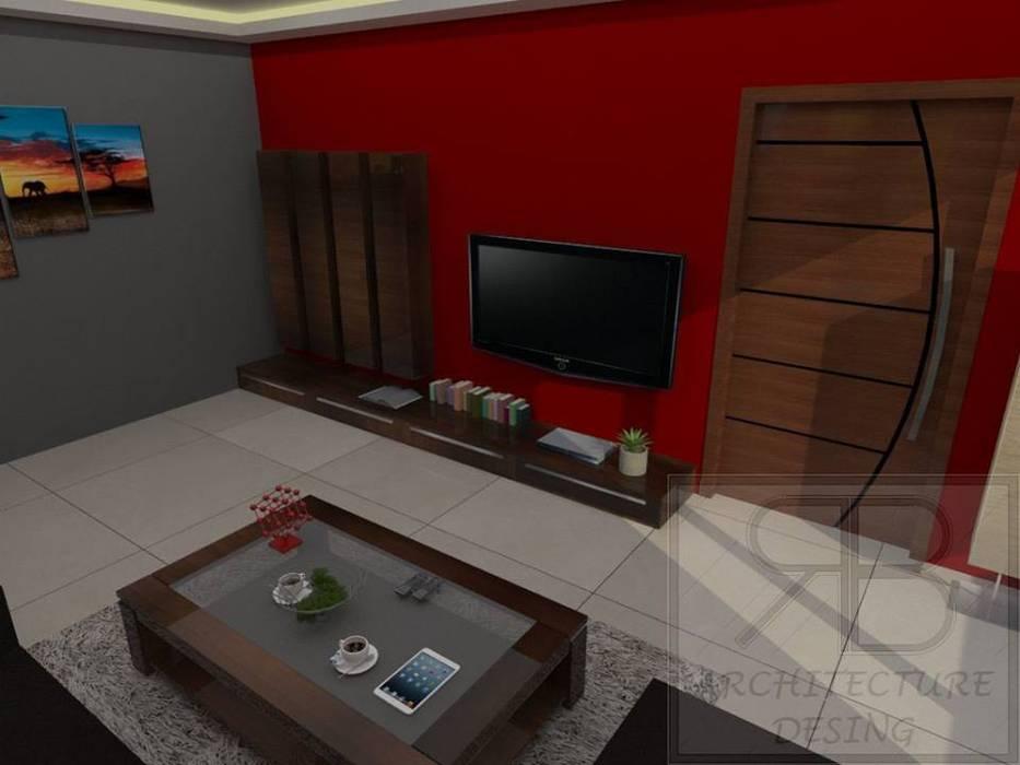 Remodelación Sala Recibidor Apto Res. San Isidro: Salas / recibidores de estilo  por RB Arquitectura & Diseño, Moderno Cerámico