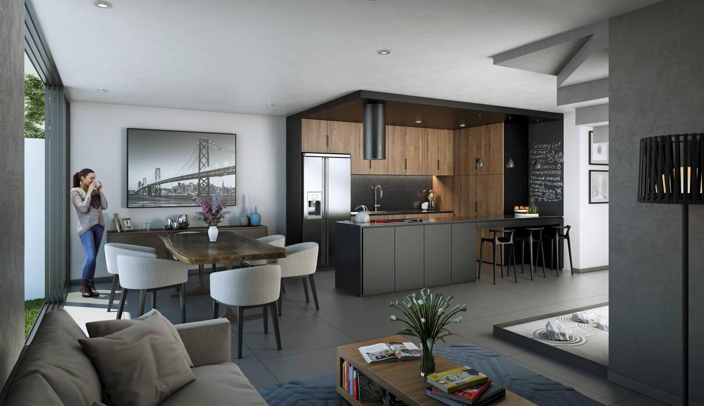 Area social cocinas equipadas de estilo por stuen for Paginas de decoracion de interiores de casas