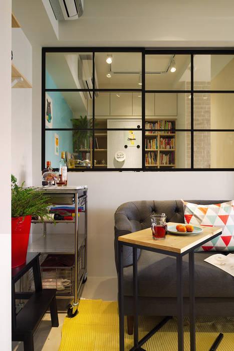 開放的書房,讓光線及空氣更為流通了 by 一葉藍朵設計家飾所 A Lentil Design Scandinavian