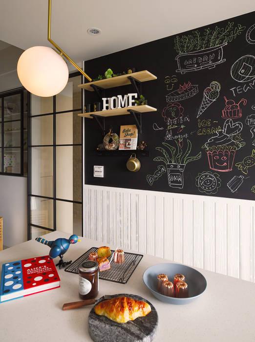 Nhà bếp theo 一葉藍朵設計家飾所 A Lentil Design , Bắc Âu