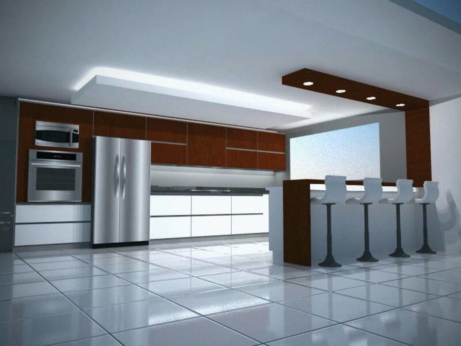 Dise o y modelado 3d cocina bello monte ccs cocinas de estilo por arqyosephlopez homify - Diseno cocina 3d ...