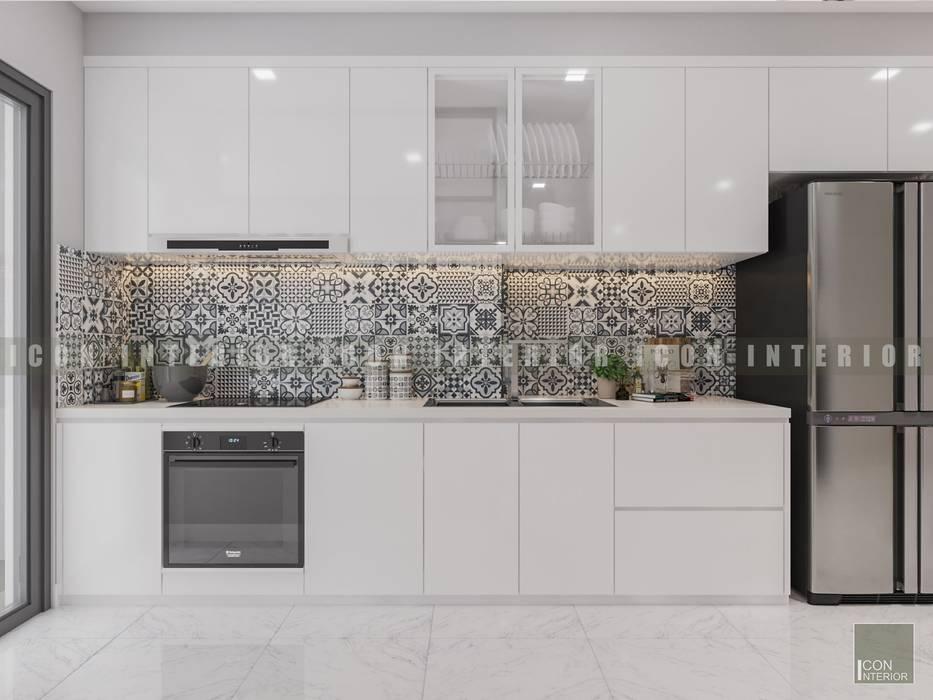 Vẻ đẹp thanh lịch đến từ sự đơn giản - Phong cách thiết kế hiện đại Nhà bếp phong cách hiện đại bởi ICON INTERIOR Hiện đại