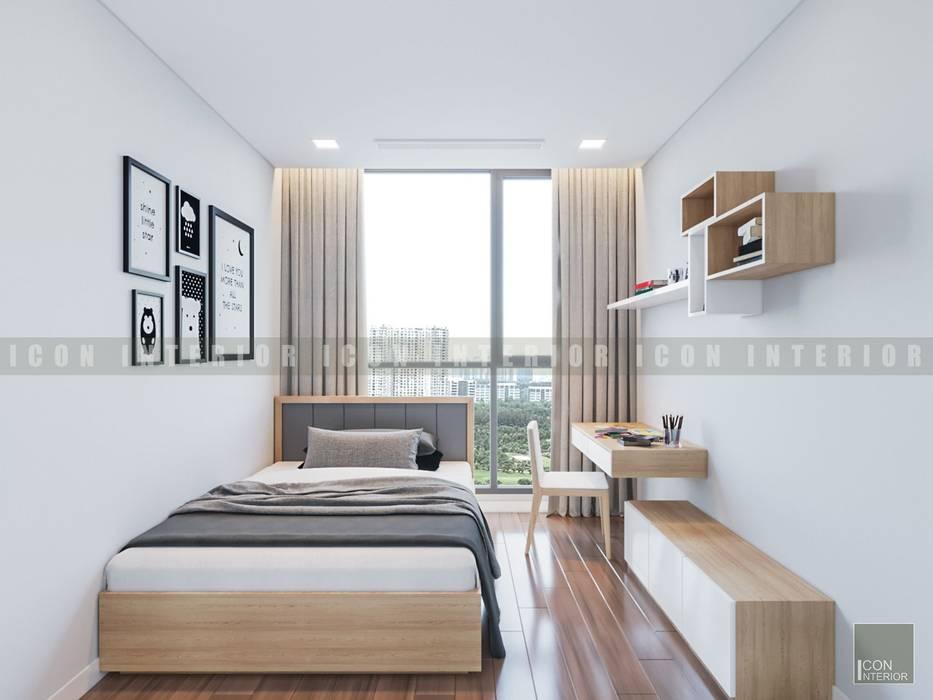Vẻ đẹp thanh lịch đến từ sự đơn giản - Phong cách thiết kế hiện đại:  Phòng ngủ by ICON INTERIOR, Hiện đại