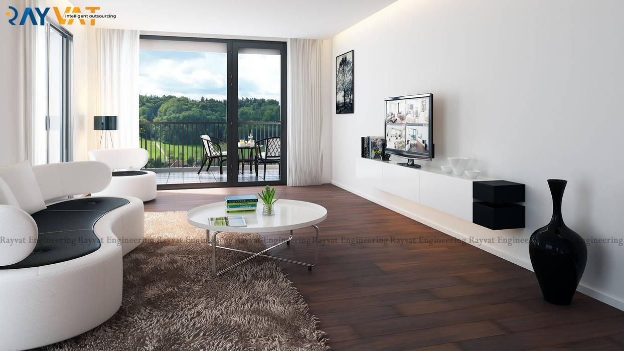 Riverside Modern 3D House Interior Design by Rayvat Rendering Studio Classic