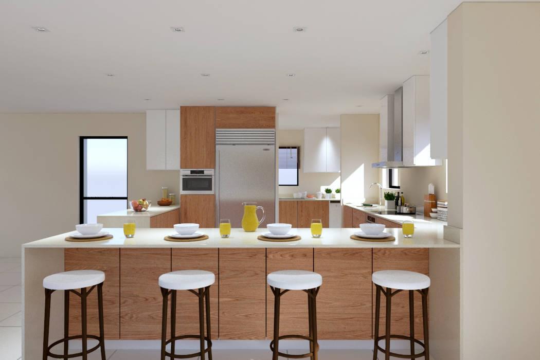 Thornhill Estate Kitchen:  Kitchen by Linken Designs , Modern Wood Wood effect