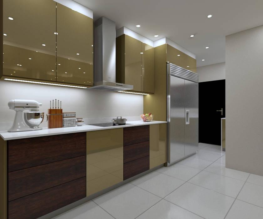 LUXURY KITCHEN - cooking space by Linken Designs Modern Silver/Gold