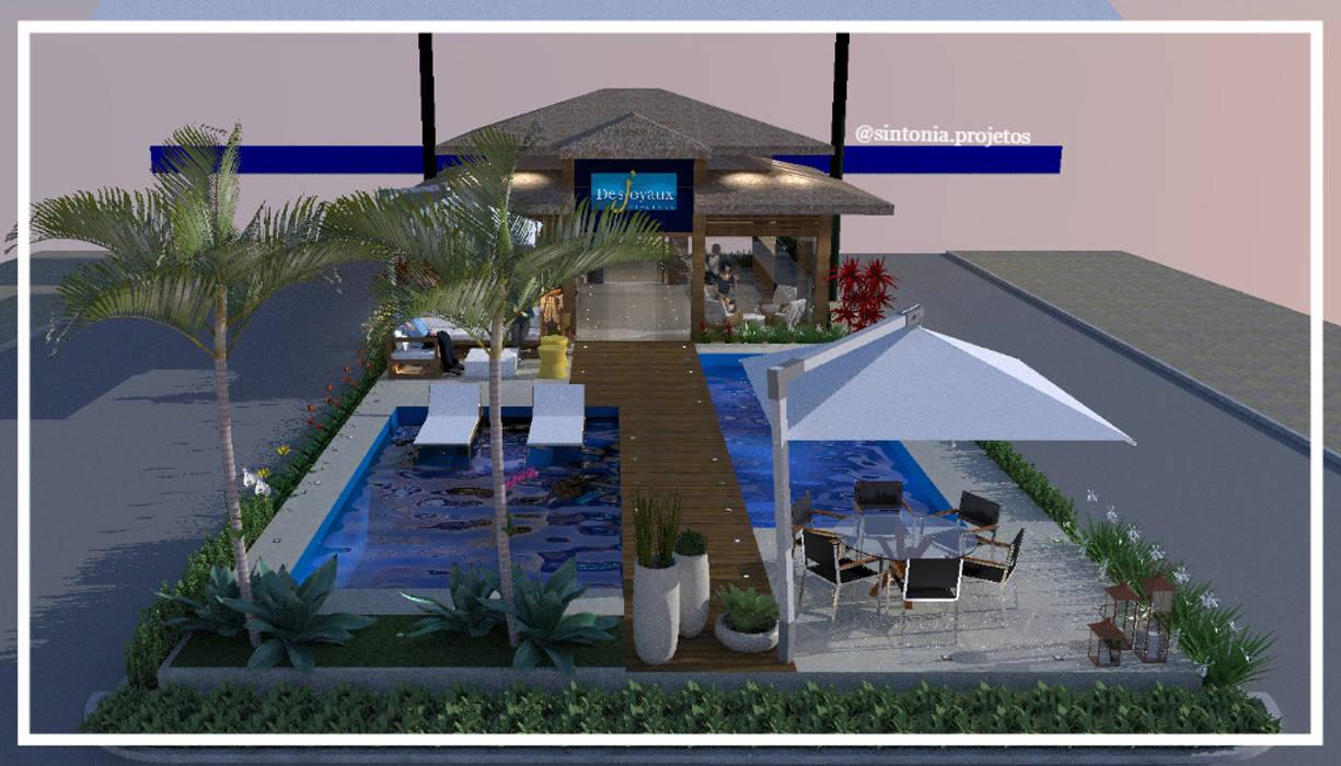 Paisagismo loja Desjoyaux Casa Shopping por Sintonia Projetos Moderno