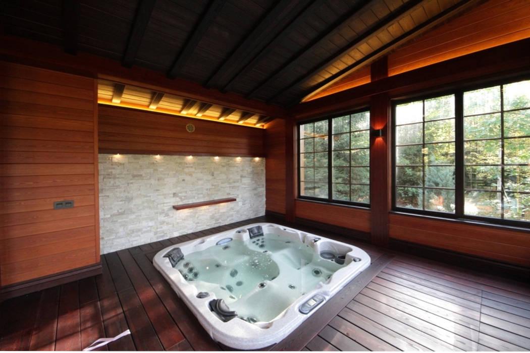 : Спа в . Автор – Studio B&L , Азиатский Твердая древесина Многоцветный