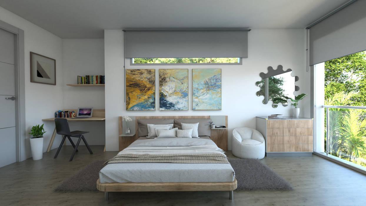 Dormitorio: Dormitorios de estilo  de Pacheco & Asociados
