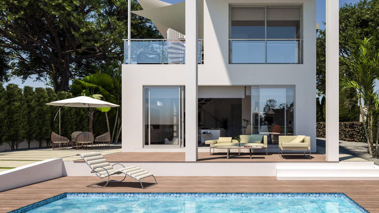 Luxury Villa at La Nucía, Alicante Moderne Pools von Pacheco & Asociados Modern