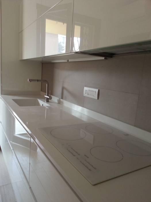 Progetto cucina bianca laccata lucida di formarredo due ...