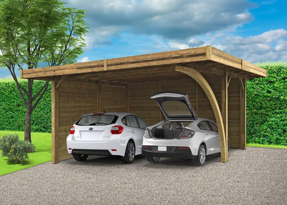 โรงจอดรถ โดย ONLYWOOD, คลาสสิค ไม้ Wood effect