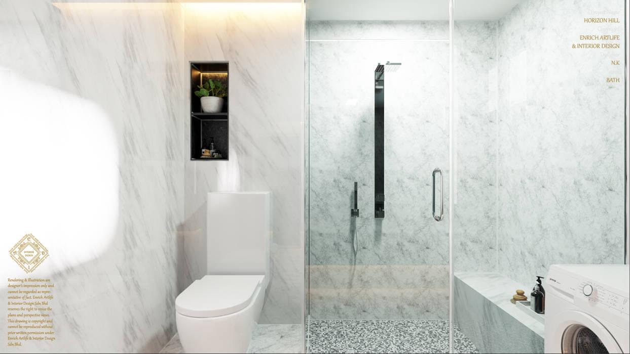 Semi Detached House—horizon hill, Johor Bahru,Malaysia:  Bathroom by Enrich Artlife & Interior Design Sdn Bhd, Modern