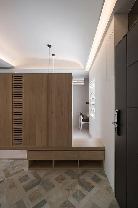 沐光‧書院造 禾光室內裝修設計 ─ Her Guang Design 亞洲風玄關、階梯與走廊