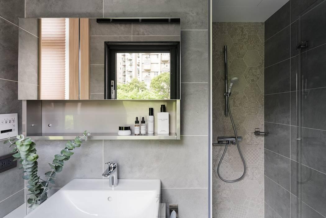 沐光‧書院造:  浴室 by 禾光室內裝修設計 ─ Her Guang Design, 日式風、東方風