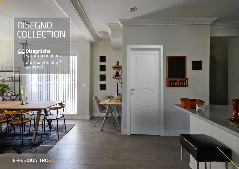 Porta Disegno O Bianco: Porte in stile  di Effebiquattro S.p.A.