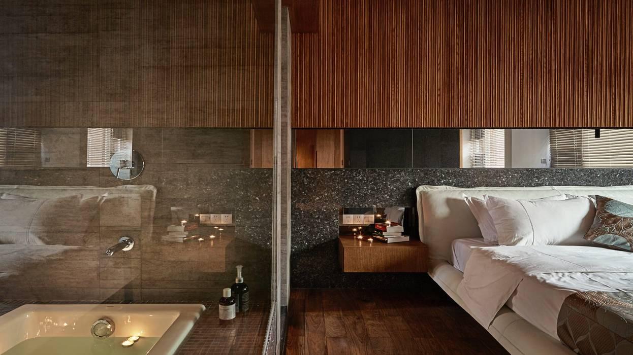 侘寂宅居 根據 大湖森林室內設計 日式風、東方風 玻璃