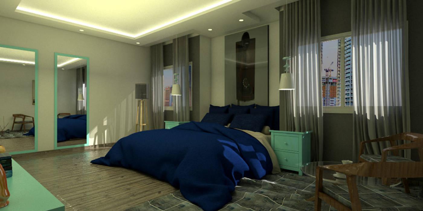 Arq Darwin Machiste Modern style bedroom White