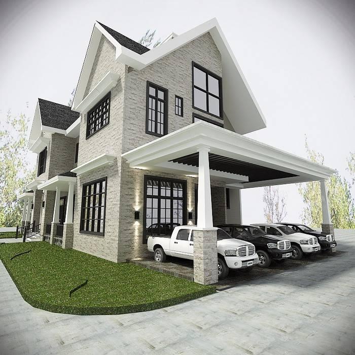 Tampak samping: Rumah oleh Lighthouse Architect Indonesia, Country