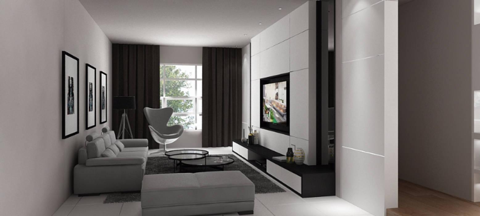 RS house Modern living: Ruang Keluarga oleh Lighthouse Architect Indonesia, Modern