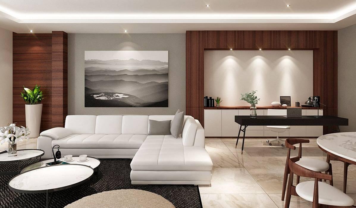M Polonia House Ruang Keluarga Modern Oleh Lighthouse Architect Indonesia Modern
