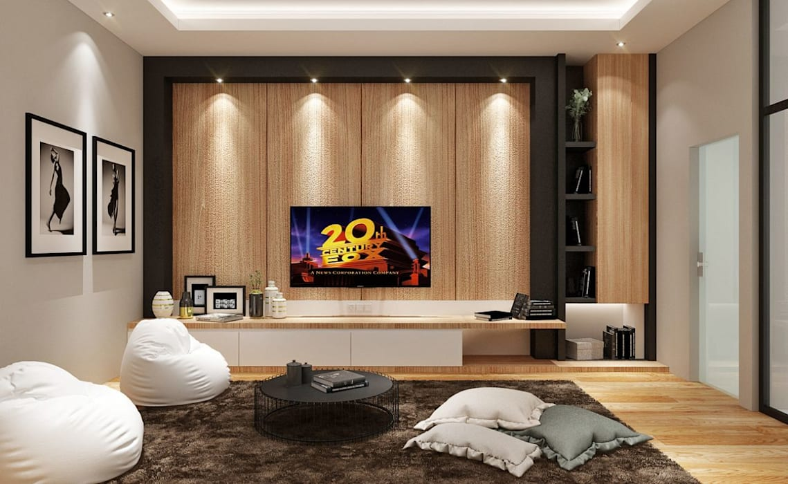 M Polonia House : Ruang Multimedia oleh Lighthouse Architect Indonesia, Modern