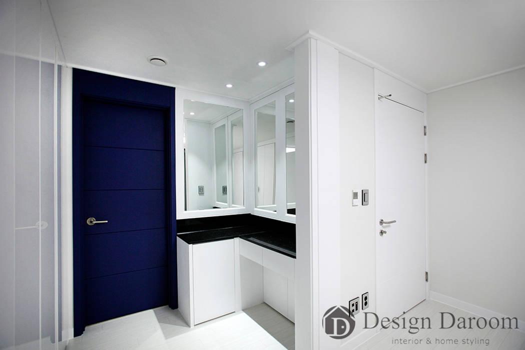 수유 두산위브 아파트 34py 안방 모던스타일 미디어 룸 by Design Daroom 디자인다룸 모던
