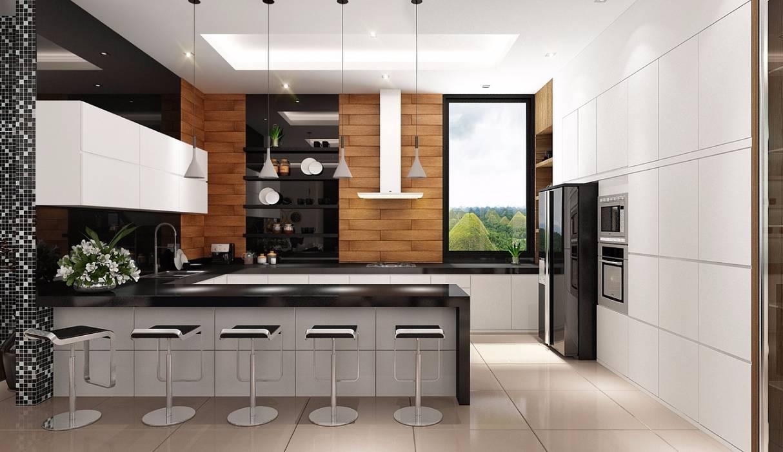 現代廚房設計點子、靈感&圖片 根據 Lighthouse Architect Indonesia 現代風