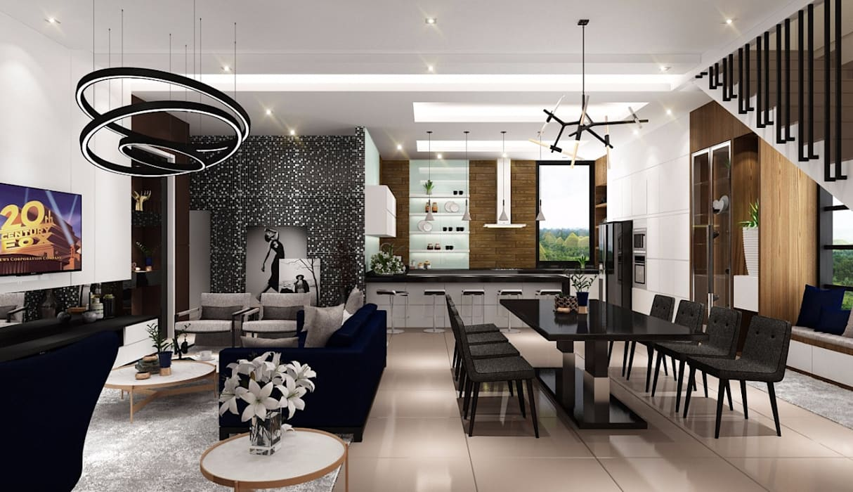 Lighthouse Architect Indonesia Salon moderne
