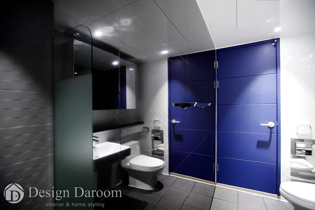 수유 두산위브 아파트 34py 안방 욕실: Design Daroom 디자인다룸의  욕실,모던
