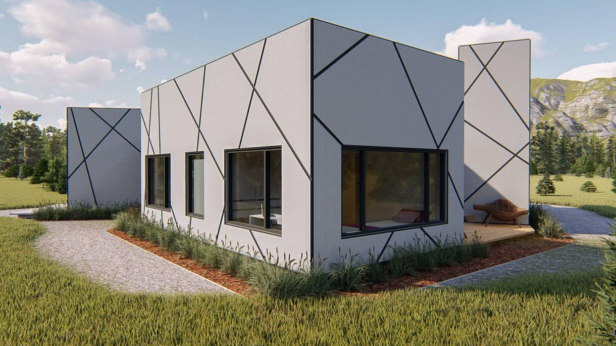 Frente exterior: Casas unifamiliares de estilo  por Tila Design