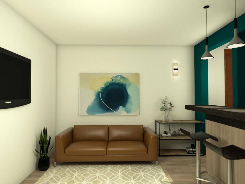 Living - Propuesta Diseno Interior: Livings de estilo  por MM Design