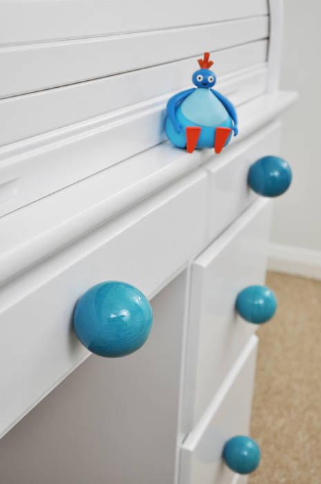 Ceramics handles – Round 6 cm - colour turquoise crackle glossy glaze Viola Ceramics Studio HouseholdAccessories & decoration Ceramic Blue