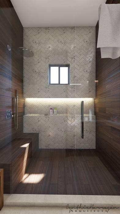 : Baños de estilo  por Cynthia Barragán Arquitecta, Moderno