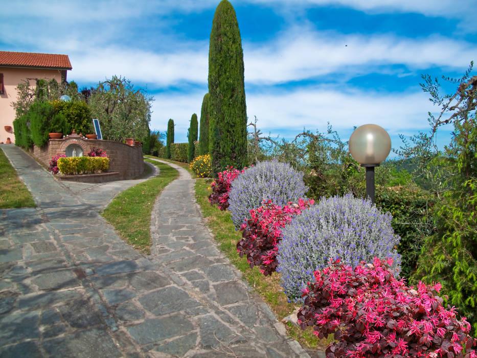 Giardino di campagna casa ec giardino anteriore in stile di