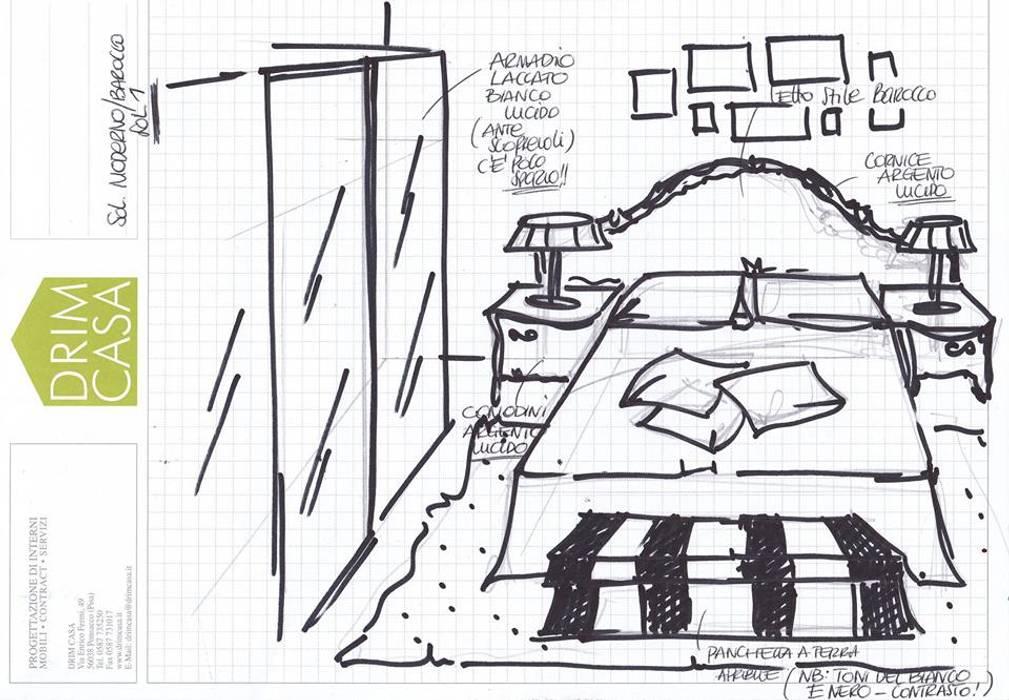 Progetto camera da letto: Camera da letto in stile in stile Moderno di Drim Casa
