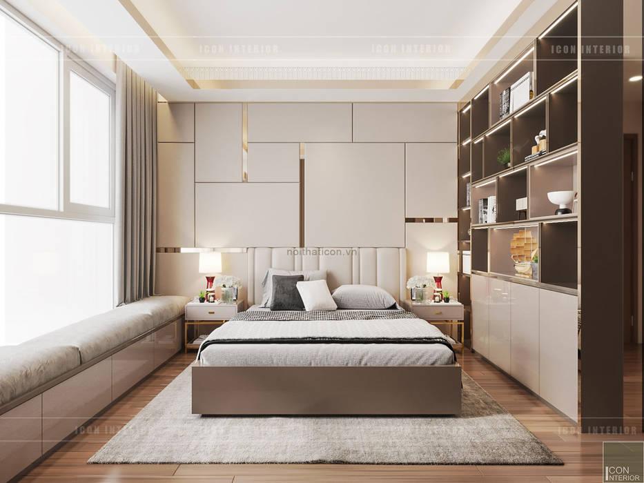 THIẾT KẾ CĂN HỘ VỚI NỘI THẤT PHONG CÁCH CHÂU ÂU - Sarica Condominium Sala:  Phòng ngủ by ICON INTERIOR